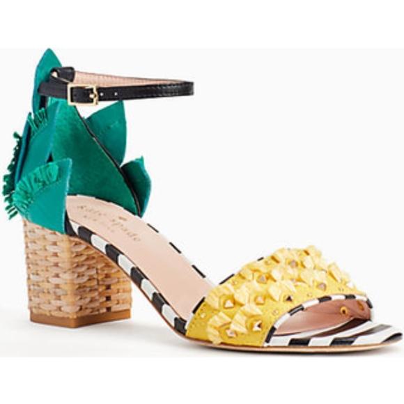1b4ce54fb755 Kate Spade Wiatt Stud Pineapple Block Sandal New